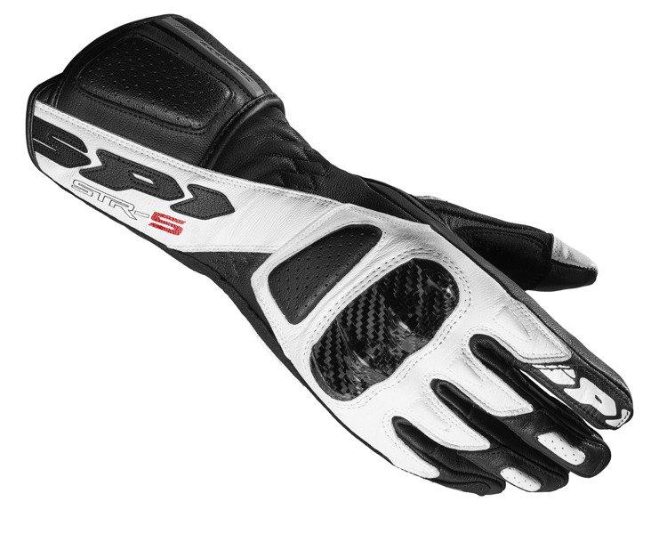 a5fb0dac0cd799 Damskie sportowe rękawice motocyklowe skórzane SPIDI A189 011 STR-5 Lady  czarno-białe