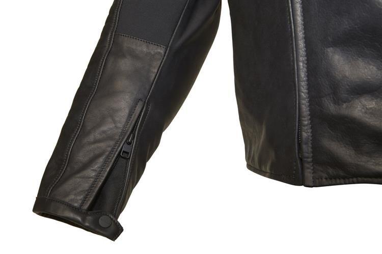 50e83e9dde9dd ... Męska klasyczna kurtka skórzana SPIDI P160 Thunderbird 026 czarna  Kliknij